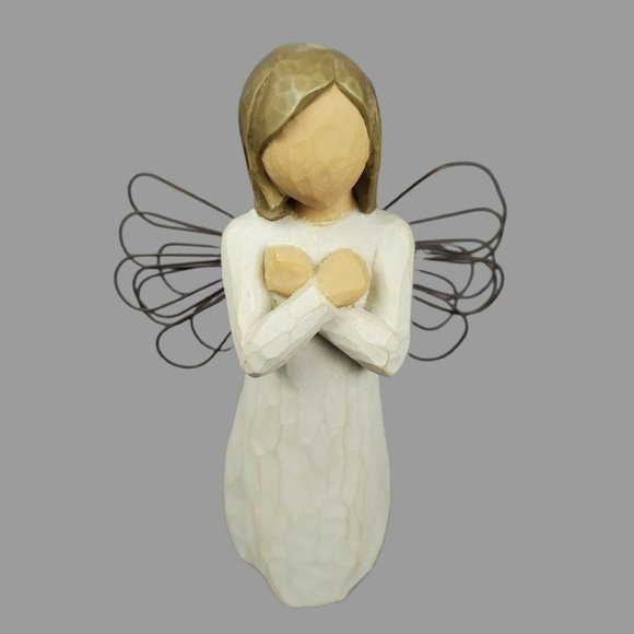 Willow Tree Christmas Angel Sign for Love Figurine